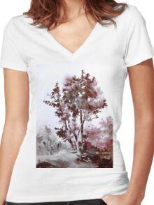 akwarelka 55 Women's Fitted V-Neck T-Shirt