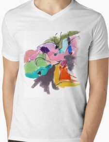 Abstract Figure Mens V-Neck T-Shirt