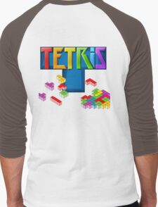Tetris Themed Merchandise Men's Baseball ¾ T-Shirt