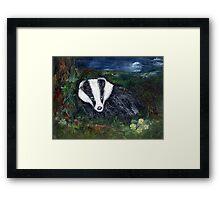 The Badger Framed Print