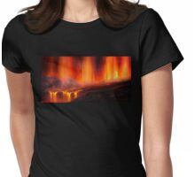 Erupting Kilauea Volcano on the Big Island of Hawaii - Lava Curtain Womens Fitted T-Shirt