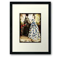 FASHIONABLE LADIES VINTAGE 24 Framed Print