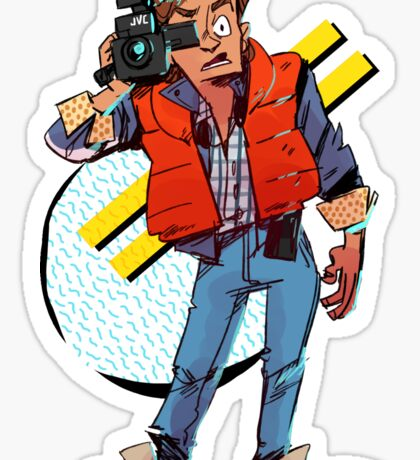 marty mcfly Sticker