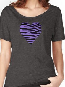 0418 Medium Purple Tiger Women's Relaxed Fit T-Shirt