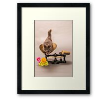 WORTH HER WEIGHT IN GOLD Framed Print