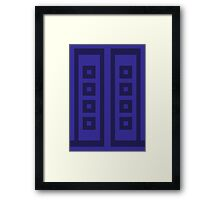River's Diary - Pixelated Framed Print