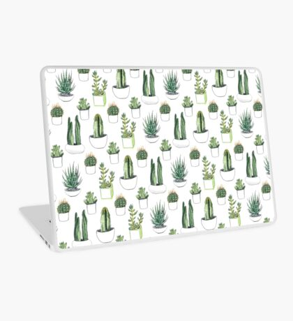 watercolour cacti and succulents Laptop Skin