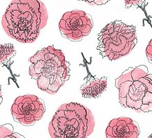 Pink Carnation - January by Vicky Webb