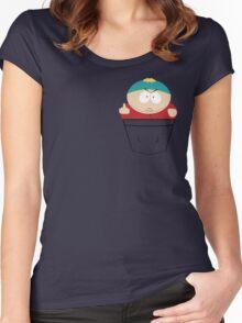Pocket Cartman Women's Fitted Scoop T-Shirt