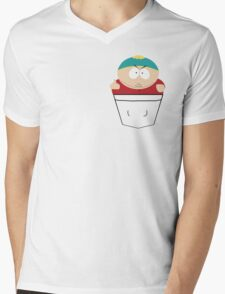 Pocket Cartman Mens V-Neck T-Shirt
