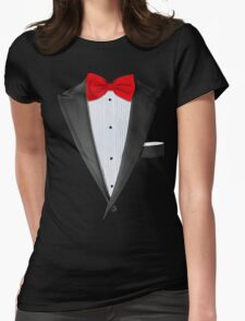Realistic Tuxedo Shirt Womens Fitted T-Shirt