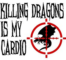 Killing Dragons is my Cardio Photographic Print