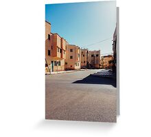 Buildings in Small Moroccan Town Greeting Card