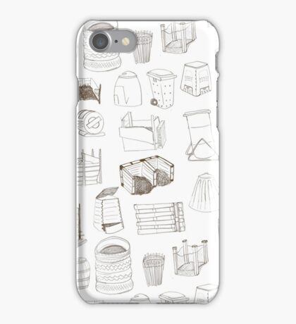 Cover, Contain, COMPOST- 3 of 3 iPhone Case/Skin