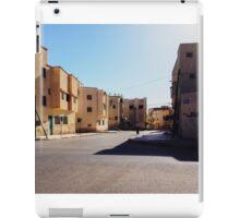 Man Riding Bicycle Through Moroccan Suburb iPad Case/Skin