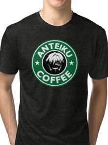 Drink coffee, eat human. Tri-blend T-Shirt