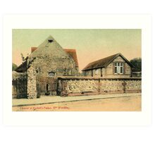 Vintage Thomas Beckett palace near Worthing  Art Print