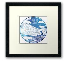 Save the Arctic! Framed Print