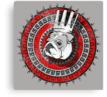 Bulldog king Canvas Print