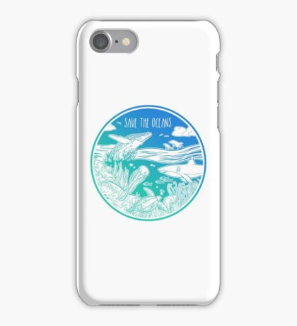 Save the Oceans! iPhone Case/Skin