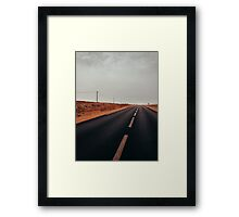 Two Hitchhikers in Moroccan Countryside Framed Print