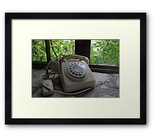 Out Of Date Telephone Framed Print