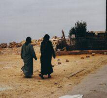 Two Muslim Women Walking in Street Sticker