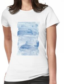 Cool Blue Waves Womens Fitted T-Shirt