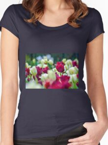Tulips Red Women's Fitted Scoop T-Shirt
