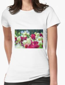 Tulips Red Womens Fitted T-Shirt