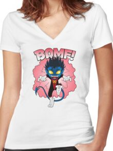 BAMF! Women's Fitted V-Neck T-Shirt