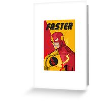 FASTER Greeting Card