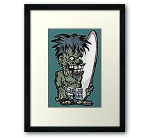 Krazy Kook Surfer Framed Print