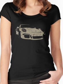porsche GT3 - vintage Women's Fitted Scoop T-Shirt