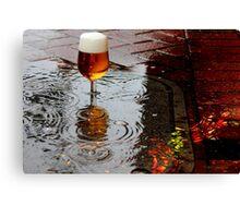 Sidewalk Beer Canvas Print