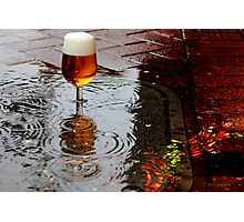 Sidewalk Beer Photographic Print