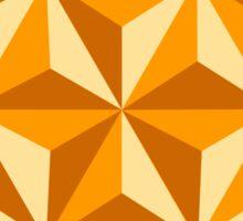 Orange Triangular Octagon Sticker