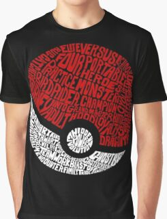 CIRCLE WORDS Graphic T-Shirt