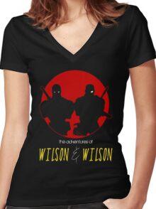 WILSON & WILSON Women's Fitted V-Neck T-Shirt