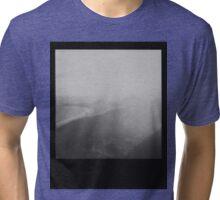 Rio de Janeiro - Black and White Polaroid of Copacabana Beach Tri-blend T-Shirt