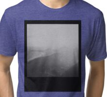 Rio de Janeiro - Black and White Polaroid of Copacabana Beach Tri-blend T-Shirt
