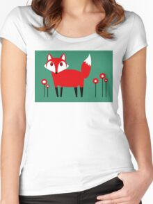 FOX VISIT #2 Women's Fitted Scoop T-Shirt
