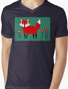 FOX VISIT #2 Mens V-Neck T-Shirt