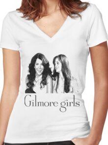 gilmore girls-Lorelai & Rory Women's Fitted V-Neck T-Shirt
