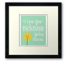 Gilmore Girls- I love you  Framed Print
