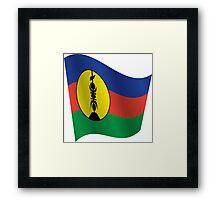 Waving Flag of New Caledonia Framed Print