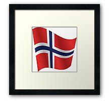 Waving Flag of Norway Framed Print
