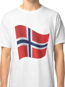 Waving Flag of Norway Classic T-Shirt