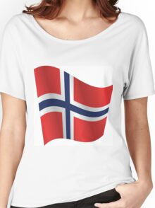 Waving Flag of Norway Women's Relaxed Fit T-Shirt