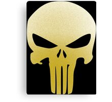 The Punisher Insignia Gold Canvas Print